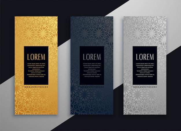 Design de banner linda vertical de luxo Vetor grátis