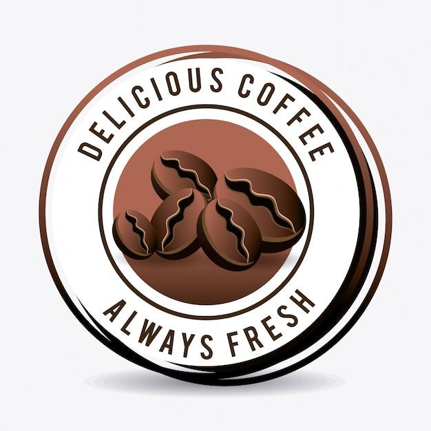 Design de bebida de café. Vetor Premium