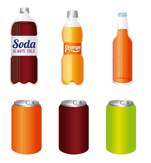 Design de bebidas Vetor Premium