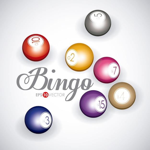 Design de bingo Vetor Premium