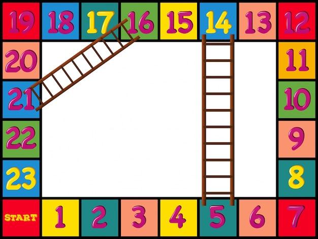 Design de boardgame com blocos e escadas coloridas Vetor grátis