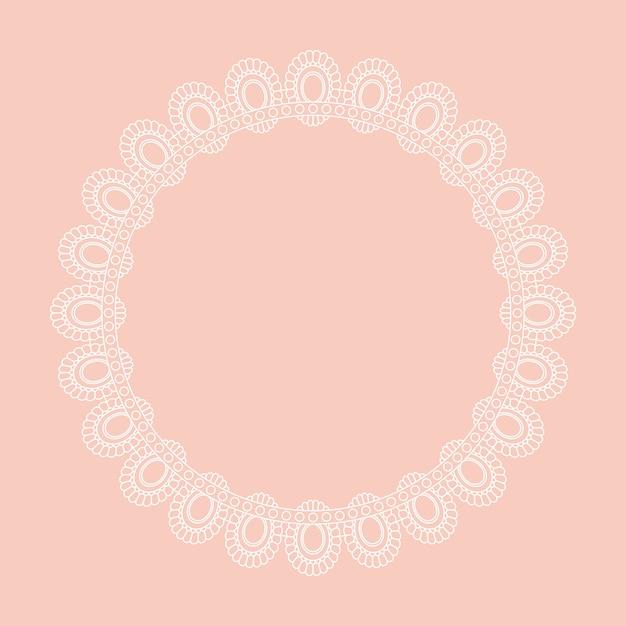 Design de borda circular estilo renda Vetor grátis