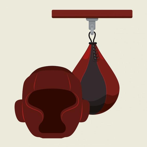 Design de boxe Vetor Premium