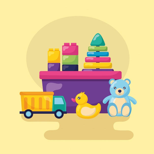 Design de brinquedos para crianças Vetor grátis