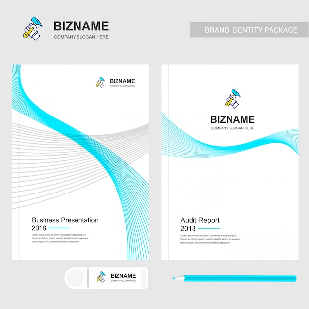 Design de brochura da empresa Vetor grátis