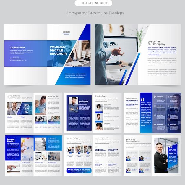 Design de brochura da empresa Vetor Premium
