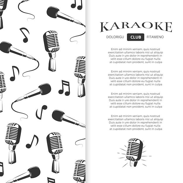 Design de brochura de clube de karaokê Vetor Premium