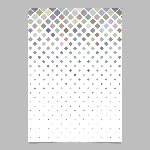 Design de brochura quadrado abstrato Vetor Premium