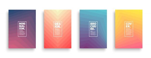 Design de brochuras na moda estilo minimalista Vetor Premium