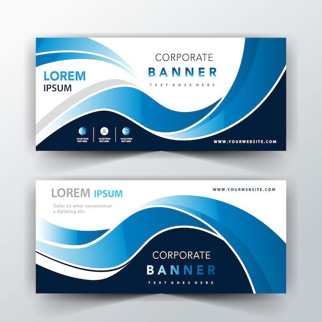 Design de cabeçalho elegante azul Vetor grátis