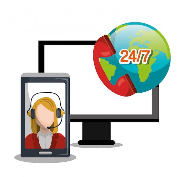 Design de call center Vetor grátis