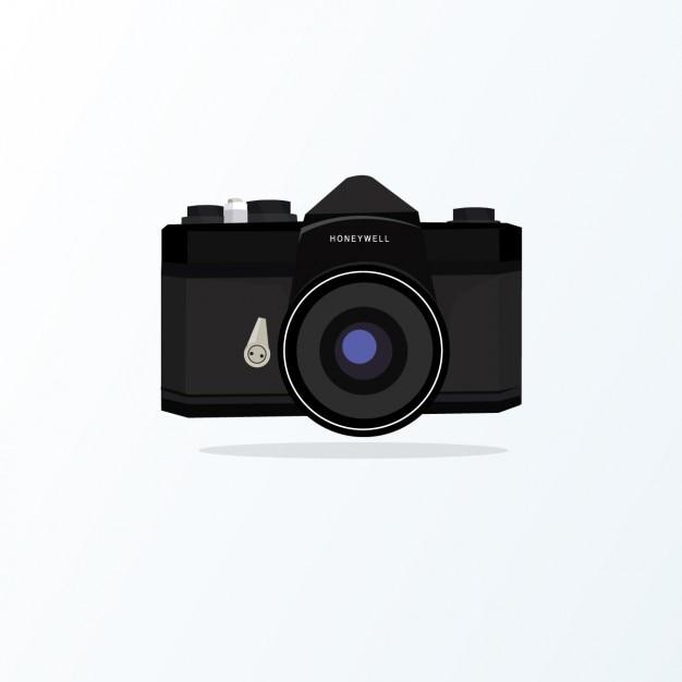 Design de c mera retro baixar vetores gr tis for Camera blueprint maker gratuito