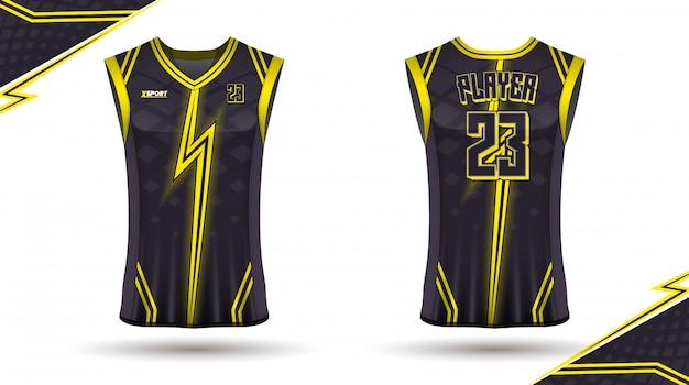 Design de camisa de basquete Vetor Premium