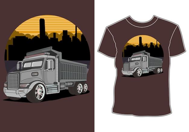 Design de camiseta de corrida de carro esporte moderno Vetor Premium