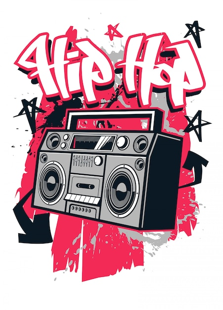 Design de camiseta estilo hip hop Vetor Premium