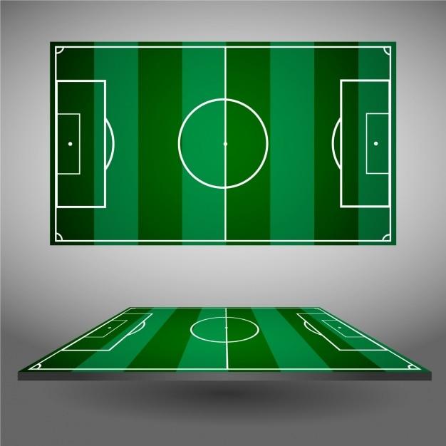 Design de campos de futebol Vetor grátis