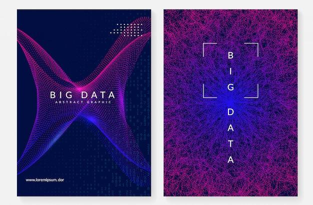 Design de capa de big data. tecnologia para visualização Vetor Premium