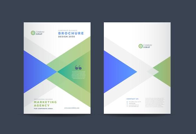 Design de capa de brochura comercial   relatório anual e capa do perfil da empresa   capa de livreto e catálogo Vetor Premium