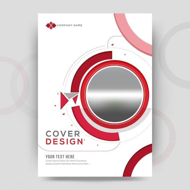 Design de capa de negócios Vetor Premium