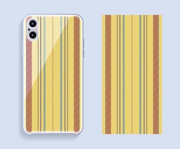 Design de capa de telefone móvel. modelo smartphone caso vetor padrão. Vetor Premium