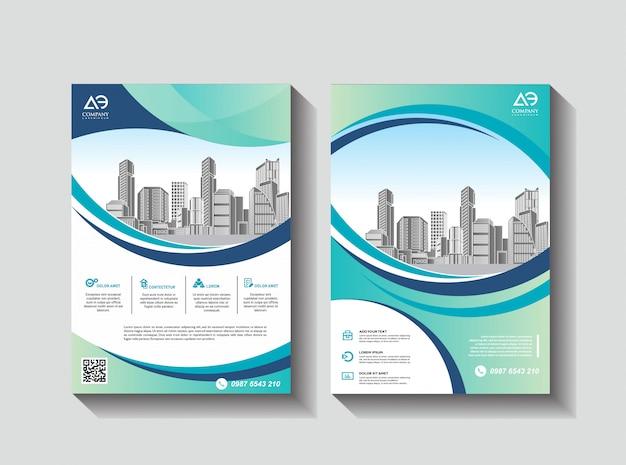 Design de capa poster a4 catálogo livro folheto panfleto layout relatório anual modelo de negócios Vetor Premium