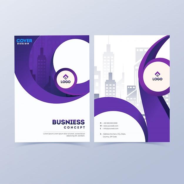 Design de capa profissional de negócios. Vetor Premium
