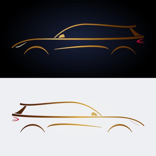 Design de carro amarelo de luxo. Vetor Premium