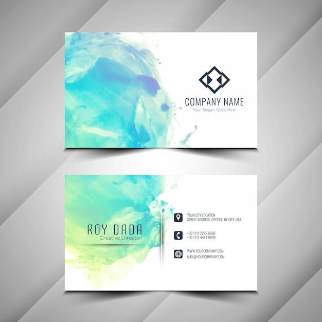 Design de cartão abstrato aquarela Vetor Premium