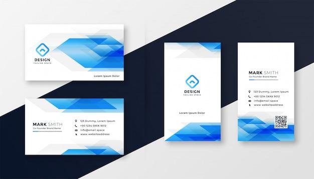 Design de cartão abstrato azul criativo Vetor grátis