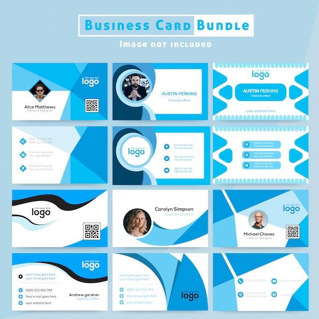 Design de cartão abstrato Vetor Premium