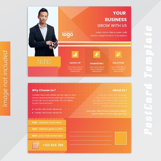 Design de cartão amarelo busness Vetor Premium