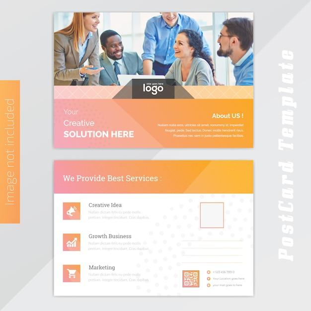 Design de cartão amarelo Vetor Premium