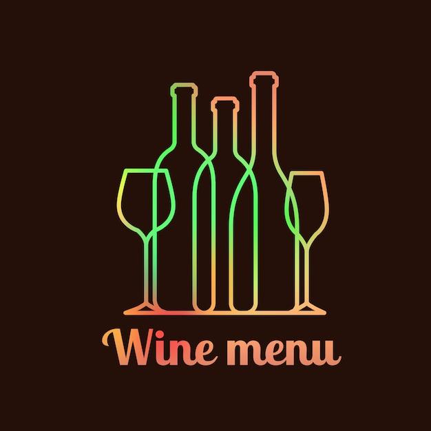 Design de cartão de carta de vinhos Vetor Premium