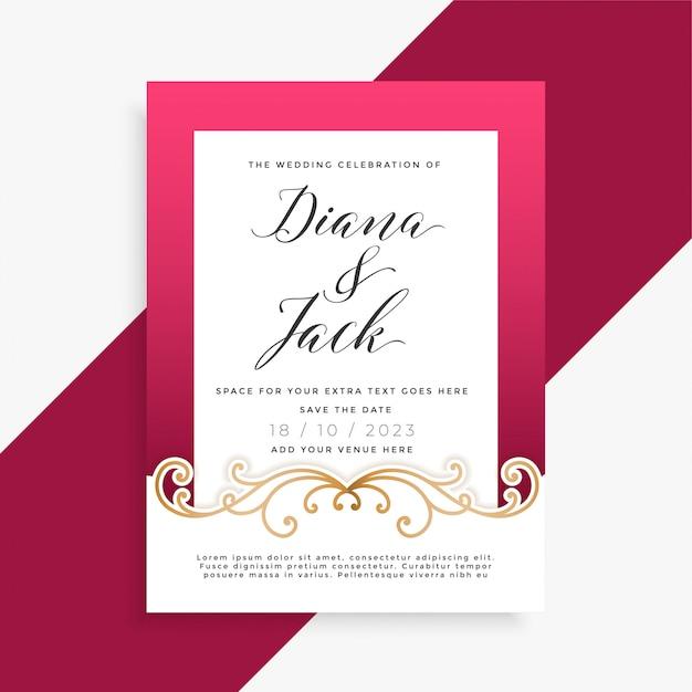 Design de cartão de casamento floral lindo Vetor grátis