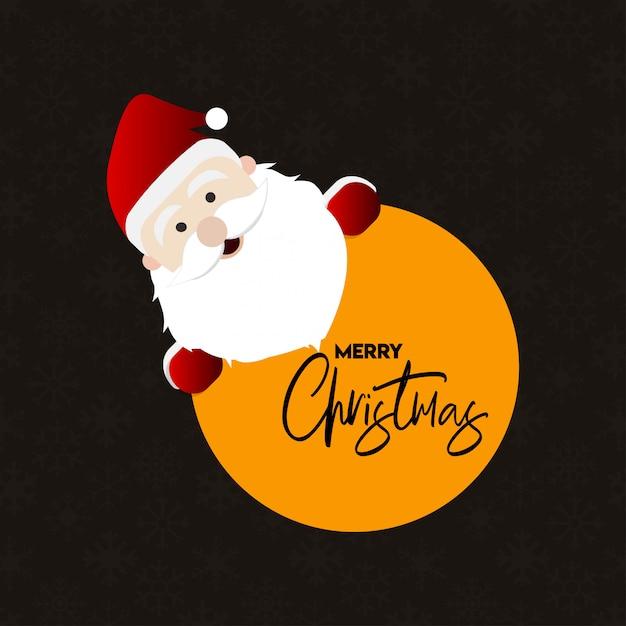 Design de cartão de natal com design elegante e vetor de fundo escuro Vetor grátis