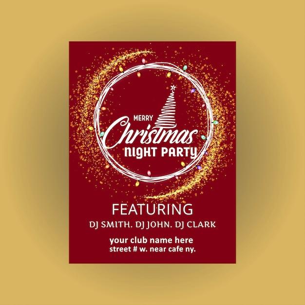Design de cartão de natal com design elegante Vetor grátis