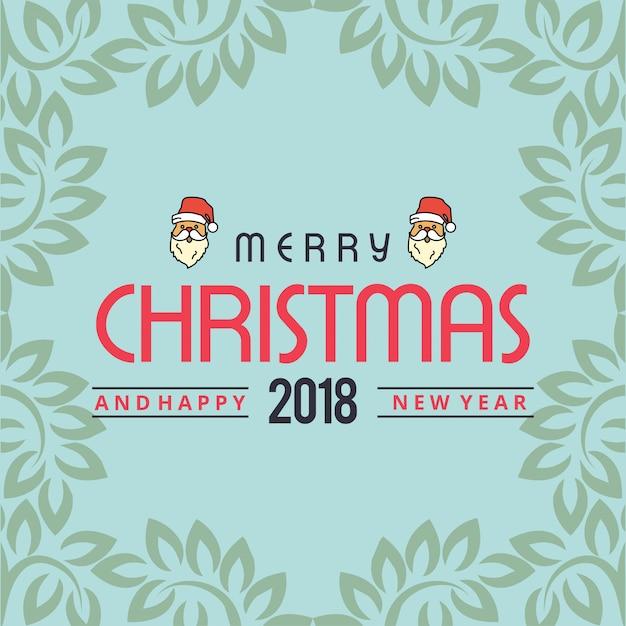 Design de cartão de natal Vetor grátis