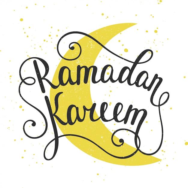 Design de cartão de ramadan kareem Vetor Premium