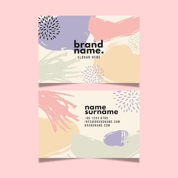 Design de cartão de visita com cores em aquarela pastel Vetor grátis