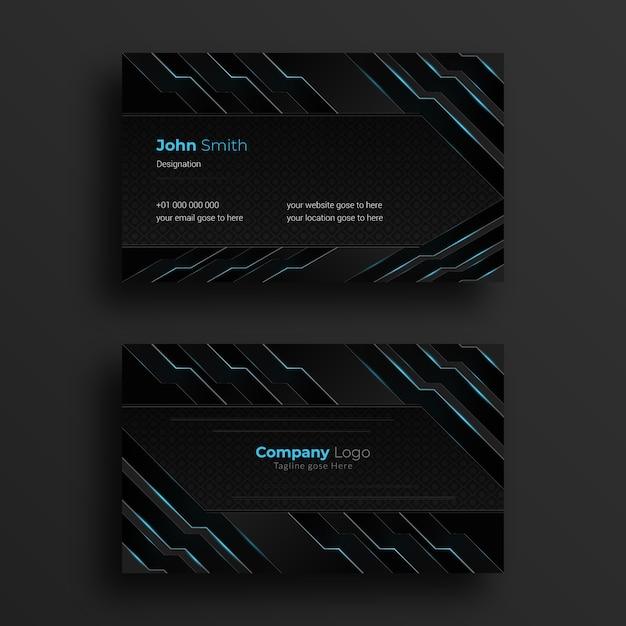 Design de cartão de visita com design futurista Vetor Premium