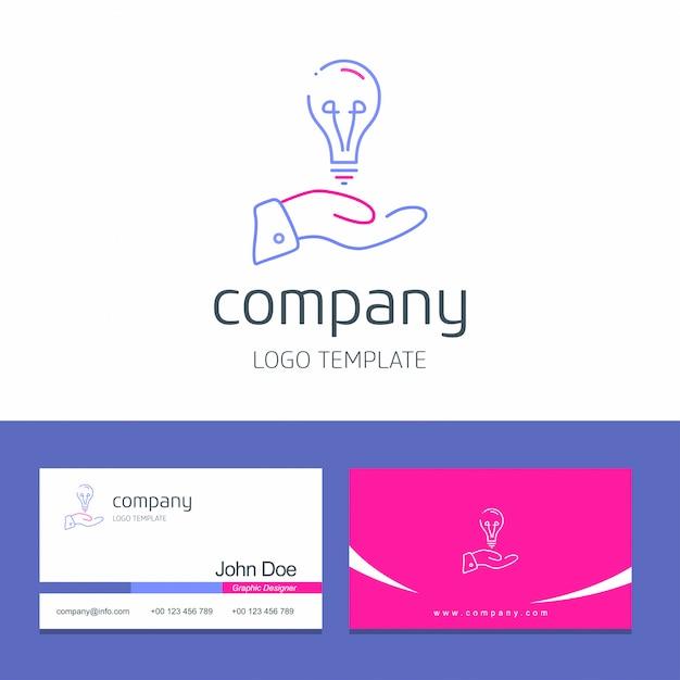 Design de cartão de visita com vetor de logotipo do office Vetor grátis