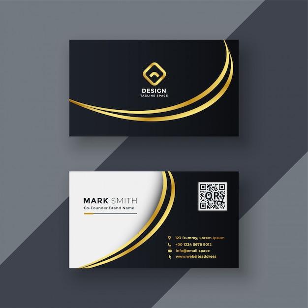 Design de cartão de visita criativo dourado elegante Vetor grátis