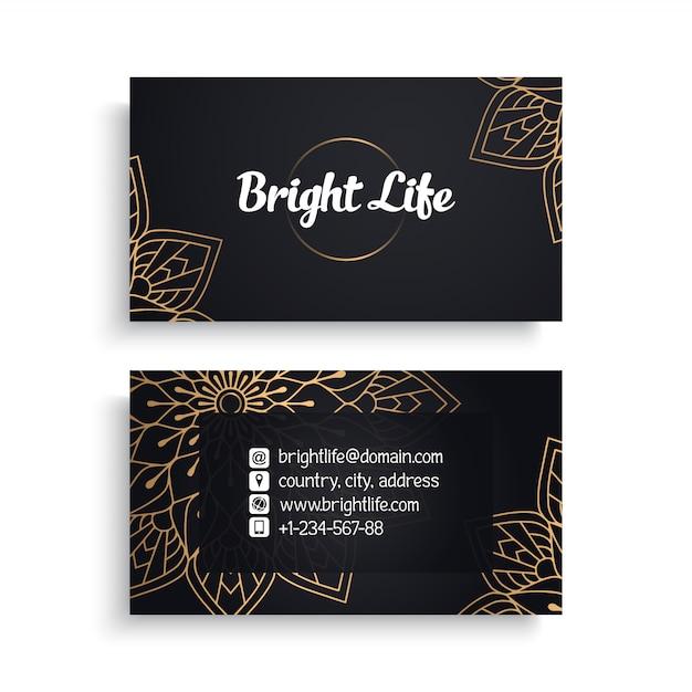 Design de cartão de visita de luxo Vetor grátis