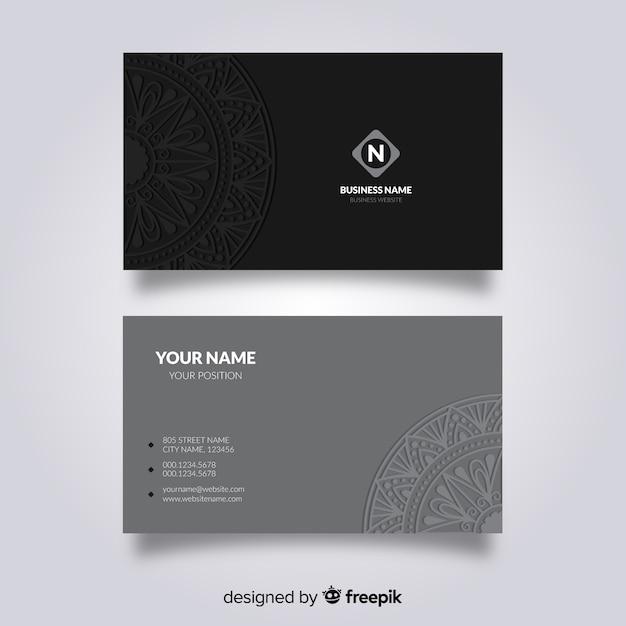 Design de cartão de visita de mandala Vetor grátis