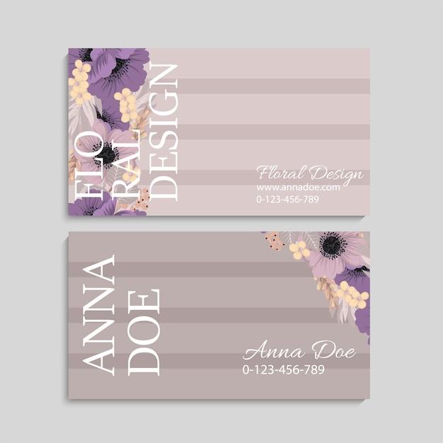 Design de cartão de visita-de-rosa claro Vetor grátis