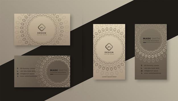 Design de cartão de visita decorativo em estilo vintage Vetor grátis