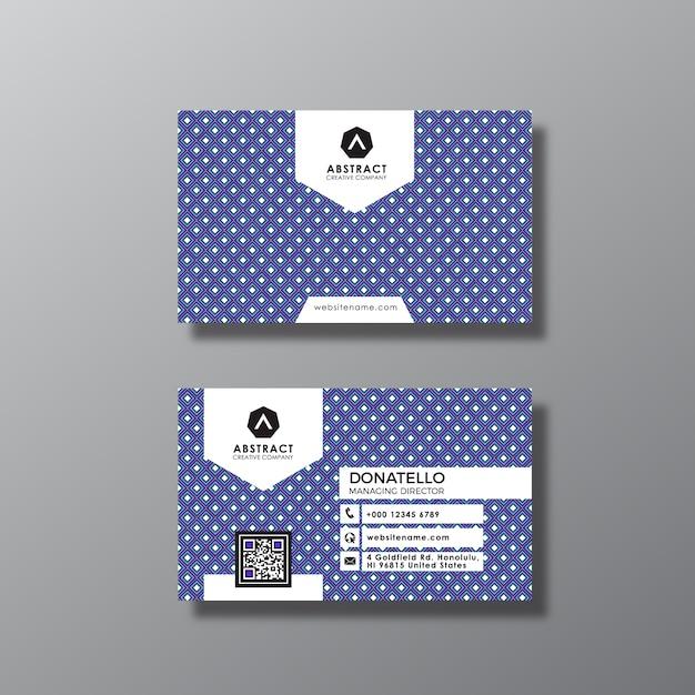 Design de cartão de visita dos pontos Vetor grátis