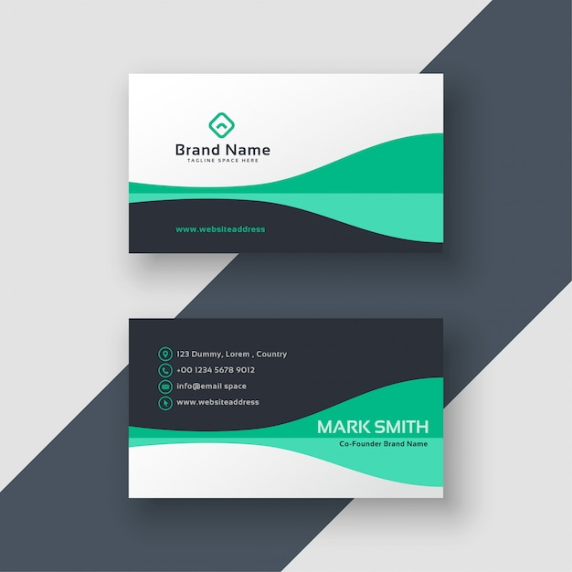 Design de cartão de visita elegante do escritório Vetor grátis