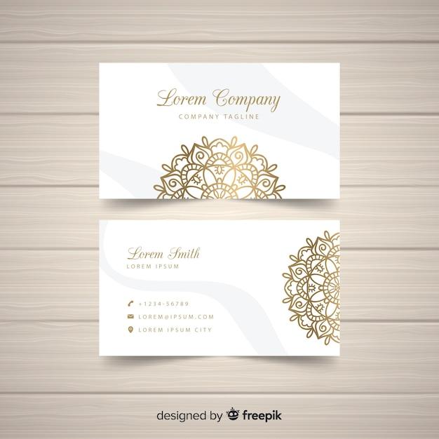 Design de cartão de visita elegante mandala Vetor grátis
