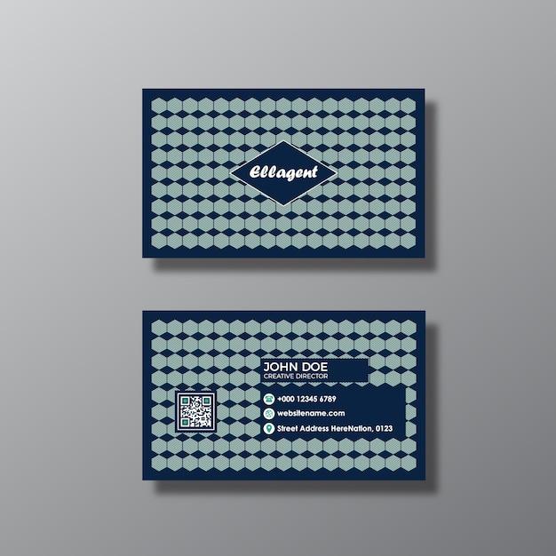 Design de cartão de visita elegante Vetor grátis